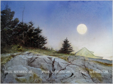 August Moon, limited edition print by Paul Niemiec Jr. Running Wind Studio